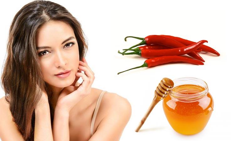 Домашние маски против выпадения волос с красным перцем мед