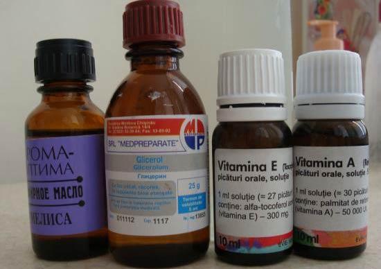 Маска для волос с витаминами а и е и репейным маслом