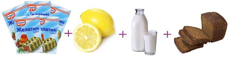Маска с желатином для волос рецепт