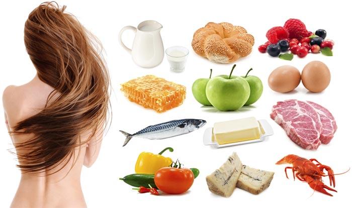 Фрукты и овощи для волос