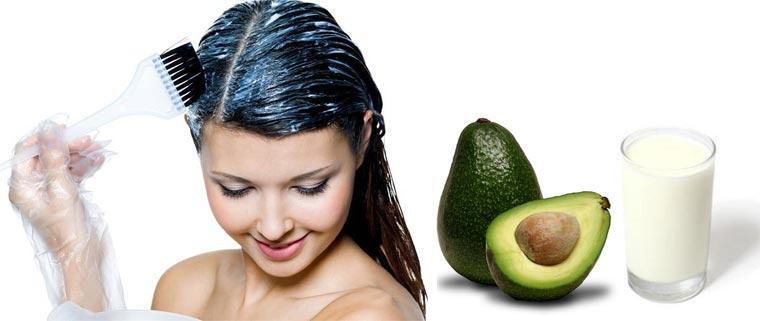 питательная маска для волос с кефиром и авокадо