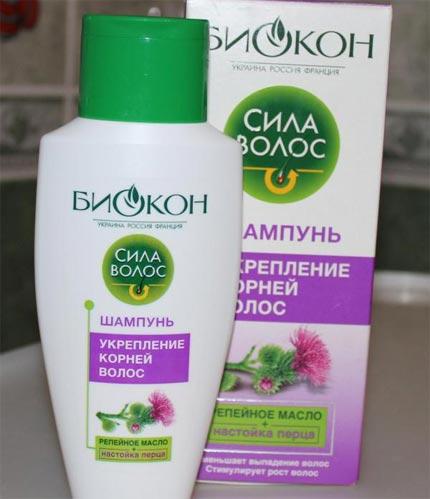 Шампунь биокон сила волос для сухих и ломких волос