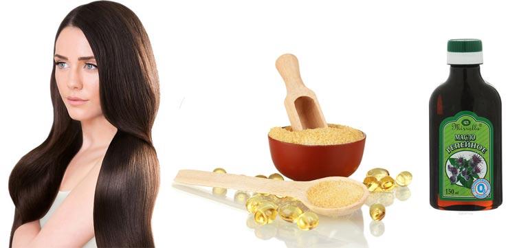 желатиновая маска с репейным маслом для волос