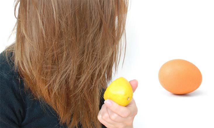 Маска для волос с лимоном и яйцом