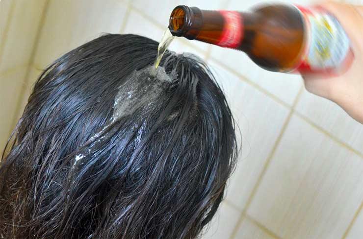 ополаскивать волосы пивом мытье для блеска