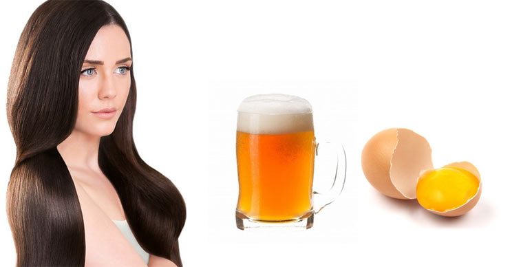 Маска для блеска и от выпадения рецепт с пивом и яйцом
