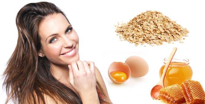 Домашние маски для жирных волос рецепт мёд овсянка яйцо