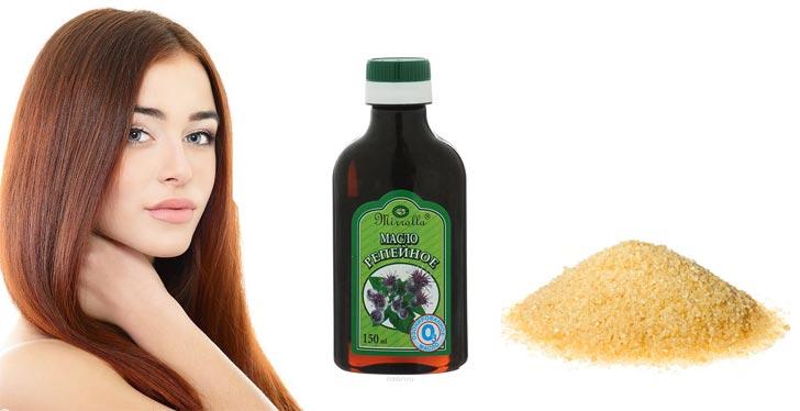 Маска для волос с репейным маслом в домашних условиях рецепты