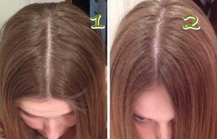 До и после осветления волос домашние средства кефир