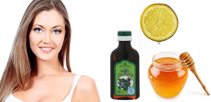 Маска для роста волос с репейным маслом мёдом лимоном