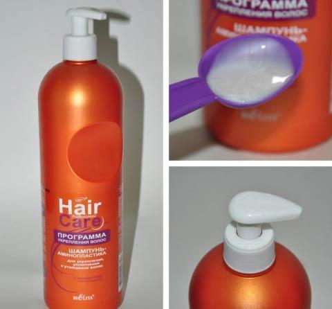 Шампунь аминопластика для укрепления уплотнения и утолщения волос