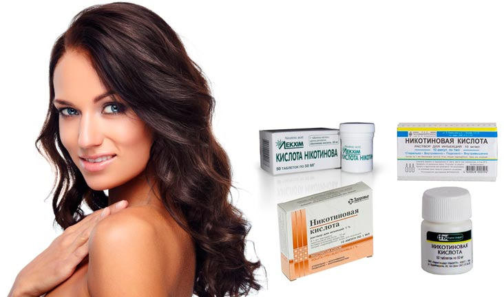 Маска для волос с никотиновой кислотой рецепт для роста волос