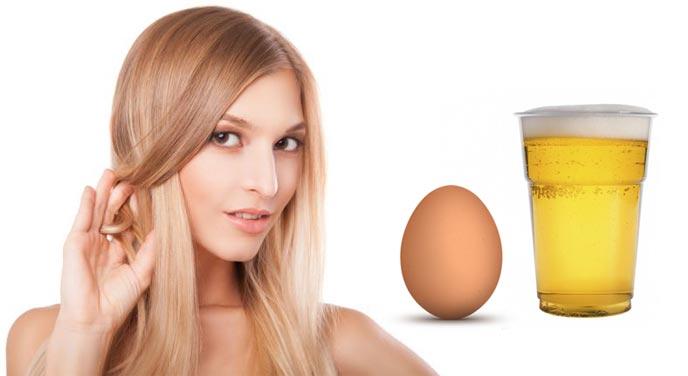 Маска для волос с яйцом и пивом рецепт
