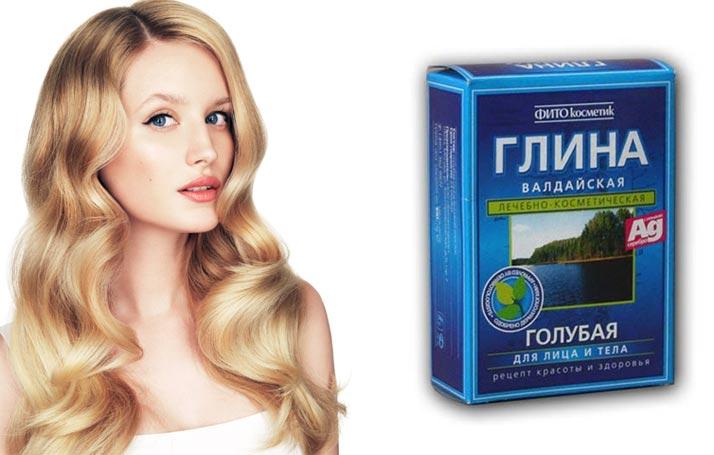 Маска из голубой глины для волос в домашних условиях