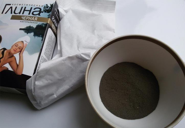 черная глина для волос как применять
