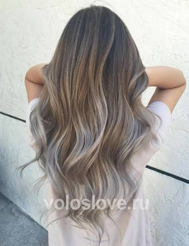 Платиновый блонд - балаяж