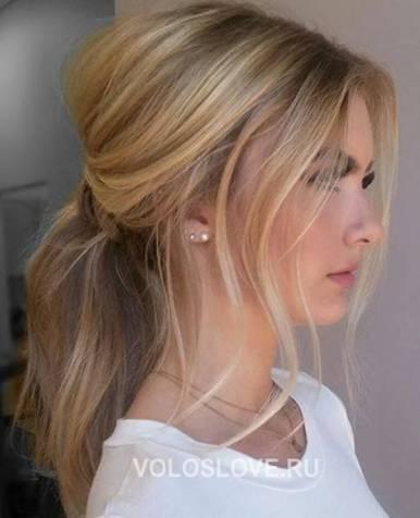 Вечерние прически - волосы хвост