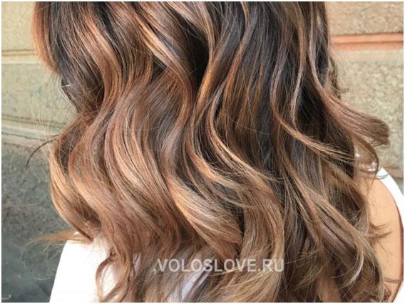Двойное окрашивание - волнистые волосы