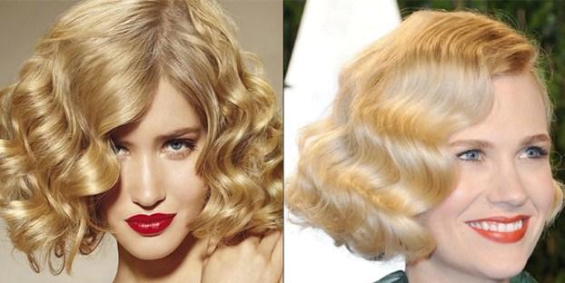 Каре с челкой - укладка блондинок