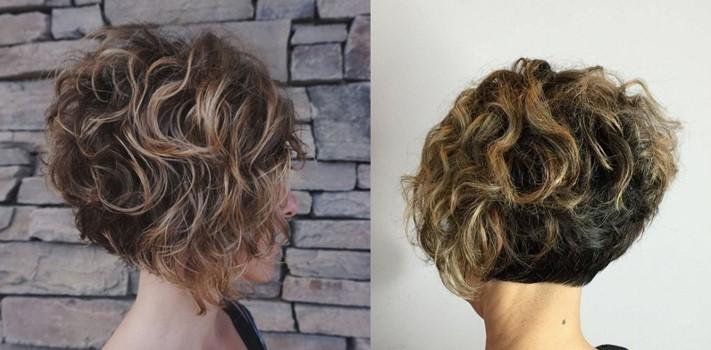 Cтрижки на волнистые волосы без укладки